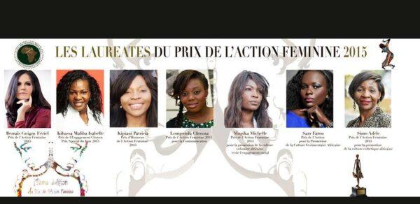 lauréates du prix de l'action féminine UFA