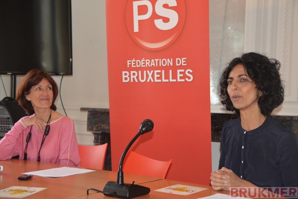 Laurette Onkelinx & Maria Arena en conférence de presse pour les journées de l'Afrique