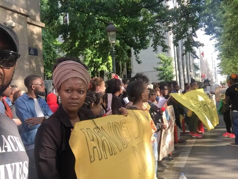 manifestation black lives matter belgium