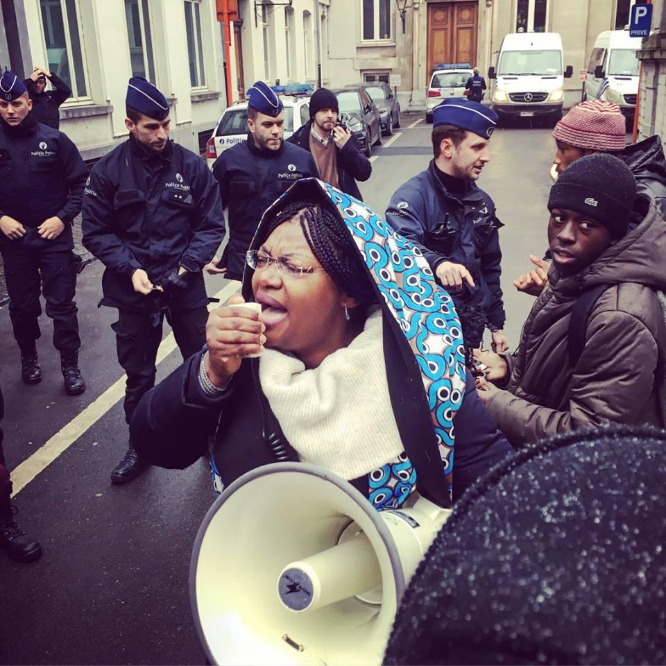 manifestations anti raciste a bruxelles pour l'affaire Nathy