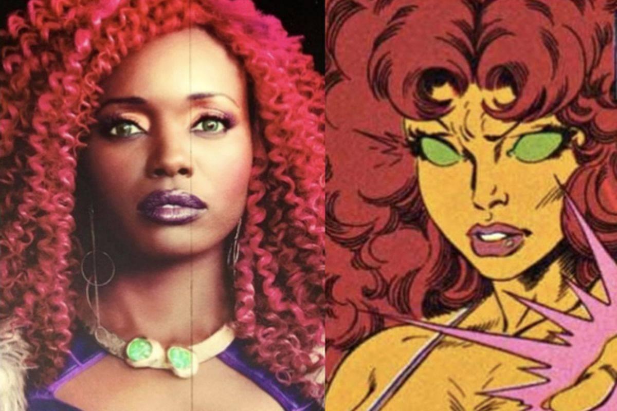 Anna Diop qui joue Starfire dans la série Titans