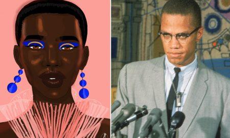 """Malcolm X illustration de """" D, """""""